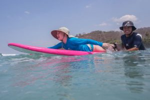 1:1 coaching ratio for kids with their surf coach