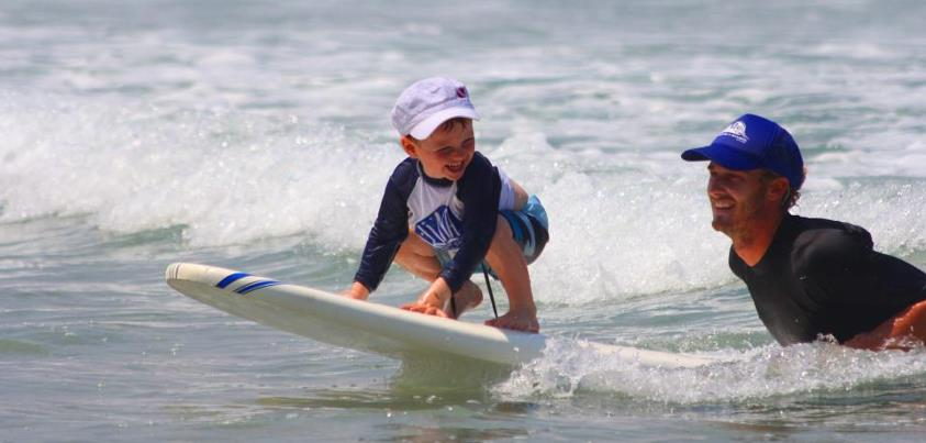 kids surf training