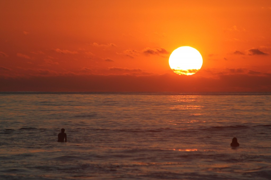 Surfer sunset- imagine yourself here in November!