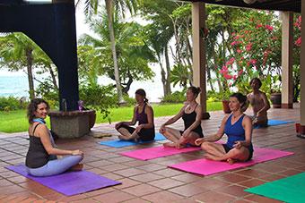 surf camp activities yoga
