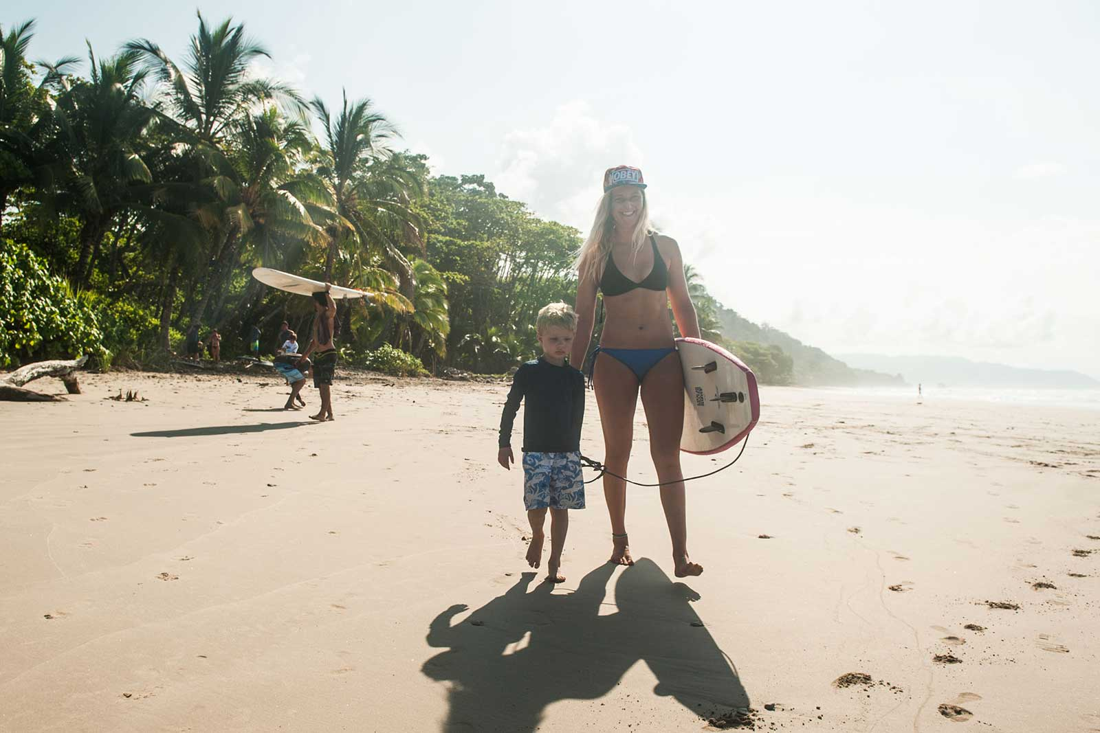 Family Surf Camps at Peaks 'n Swells, Costa Rica.